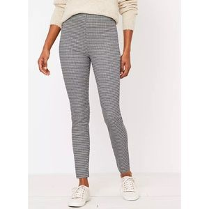 LOFT High Waist Skinny Pants in Check Size 12
